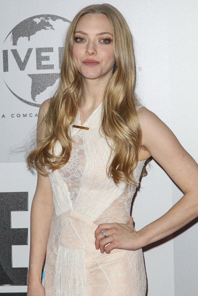 Amanda Seyfried made a stylish arrival at the NBC party.