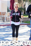 "Britney Spears wore a ""LOVE"" sweatshirt."
