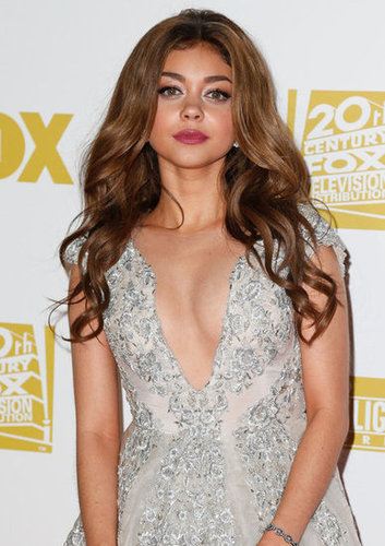 Modern Family star Sarah Hyland attended the Fox party in Beverly Hills.