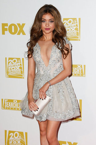 Sarah Hyland wore a mini dress to the Fox after party.