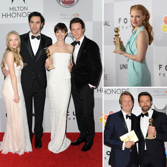 Anne, Hugh, And More Party With Their Awards at NBC's Globes Fête