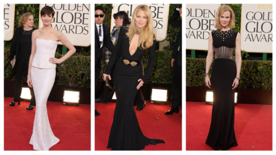 Dramatic Embellishments Light Up the Golden Globes!