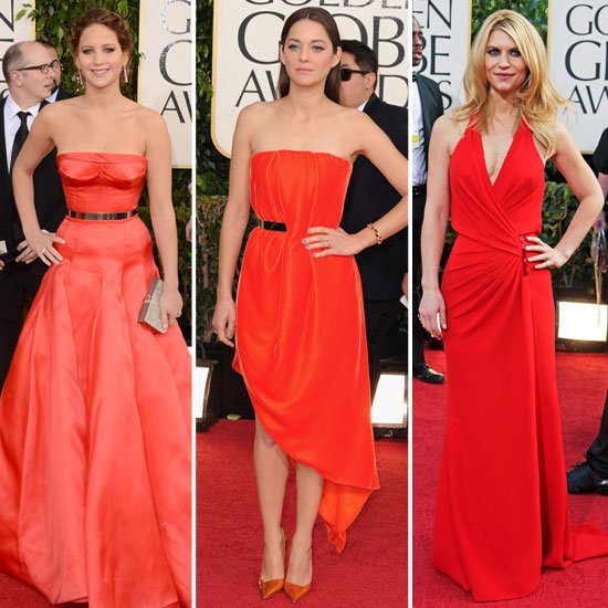 The Red-Hot Trend on the Globes Red Carpet Happens to Be Just That