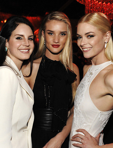 Lana Del Rey, Rosie Huntington-Whiteley and Jaime King
