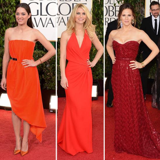 2013 Golden Globe Awards Red Carpet Trends: Red