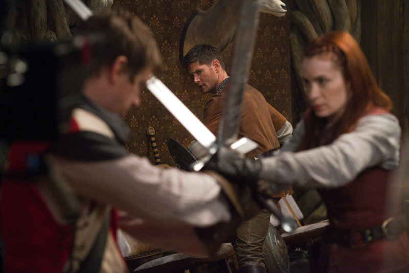 Dean's about to get in on that sword fight.