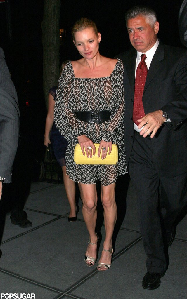 Kate Moss attended a party at the Gramercy Park Hotel in NYC in May 2007.