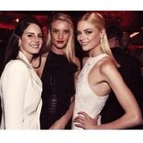 It was ladies' night for Lana Del Rey, Rosie Huntington-Whiteley and Jaime King. Source: Instagram user jaime_king