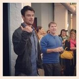 Josh Duhamel and Nicholas Sparks made a visit to POPSUGAR's San Francisco office. Source: Instagram user popsugar
