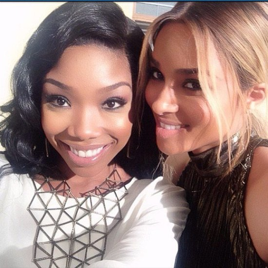 Brandy and Ciara posed sweetly together during a night out. Source: Instagram user ciara