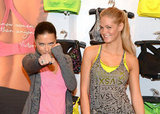 Adriana Lima and Erin Heatherton had fun at the launch of the VSX collection at Victoria's Secret in NYC.