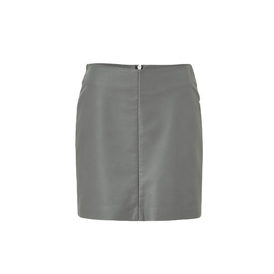 Leather is a great wardrobe staple for 2013, so why not experiment with the colour? — Laura, shopstyle.com.au country manager  Skirt, approx $325, Cacharel at Stylebop