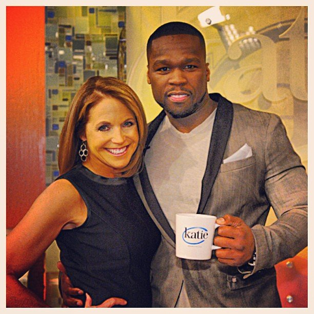 Katie Couric hung out with 50 Cent. Source: Instagram user 50cent