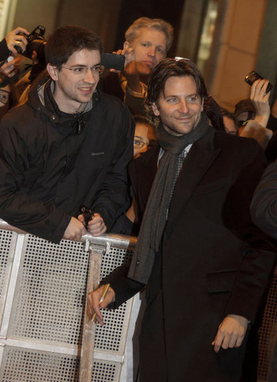 Bradley Cooper greeted fans in Madrid.