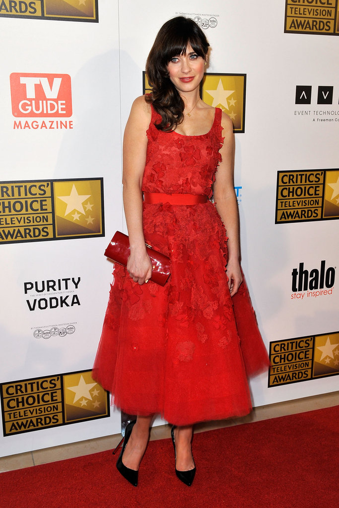 Her red floral-embellished Oscar de la Renta dress was a standout red-carpet choice at the Critics' Choice Television Awards in 2012.