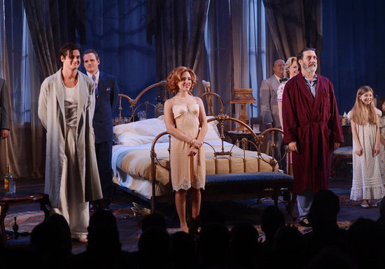 Scarlett Johansson opened Cat on a Hot Tin Roof on Broadway in NYC with her costars.