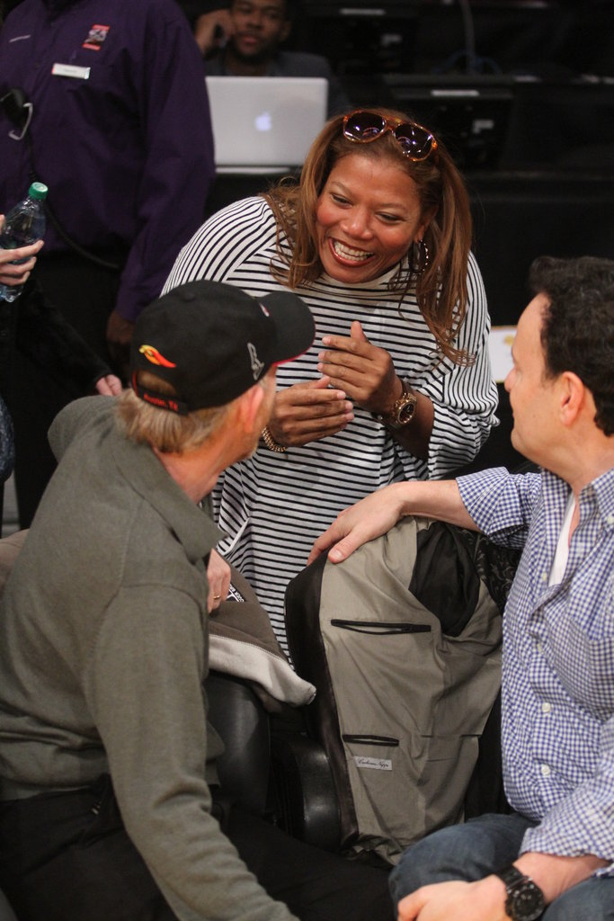 Queen Latifah spent some time bonding with Ron Howard.