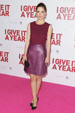 Rose Byrne nailed the berry-hued look in this Jill Stuart Fall '12 combo. She finished the look with black Casadei pumps and a Kotur clutch.