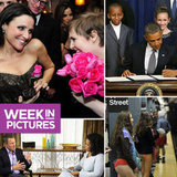 Lena Shares Golden Moment With Julia, Obama Signs Gun Laws, and Oprah and Lance Have a Chat