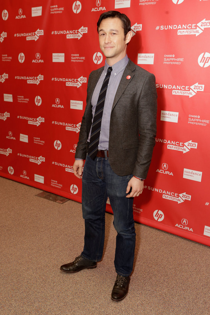 Joseph Gordon-Levitt attended the premiere of Don Jon's Addiction at Sundance.