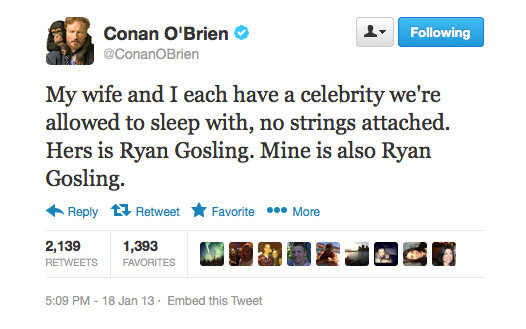 Join the queue, Conan!