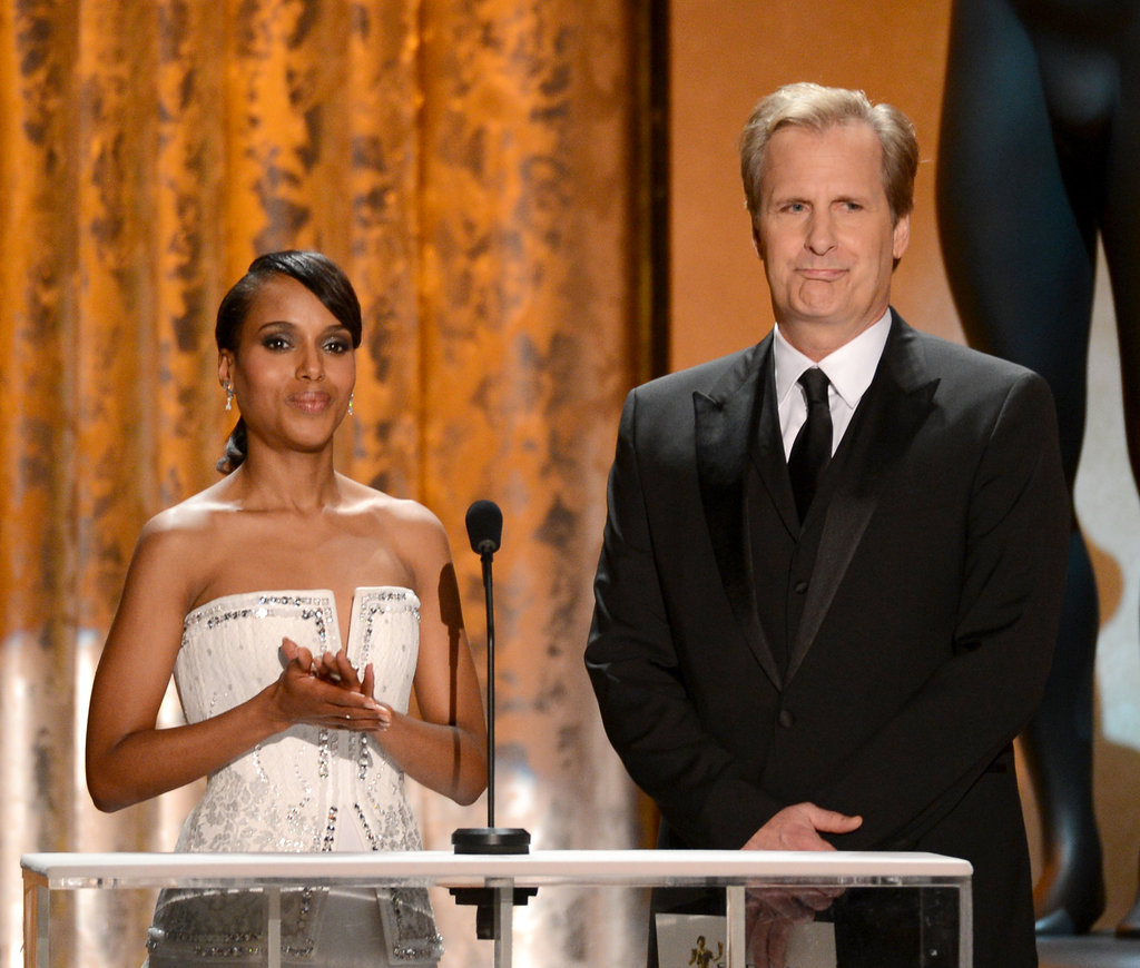 Kerry Washington and Jeff Daniels