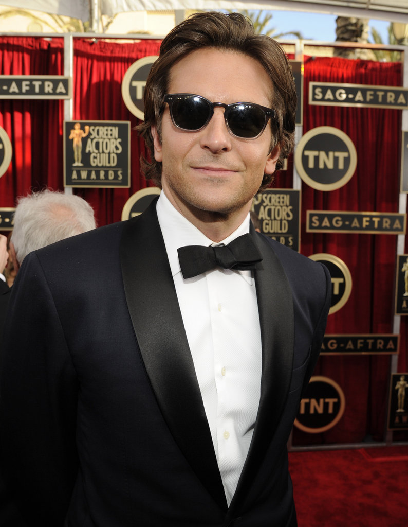 Bradley Cooper sported trendy shades on Sunday at the 19th annual SAG Awards.