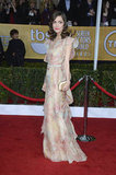 Rose Byrne wore a floral number for the SAG Awards.