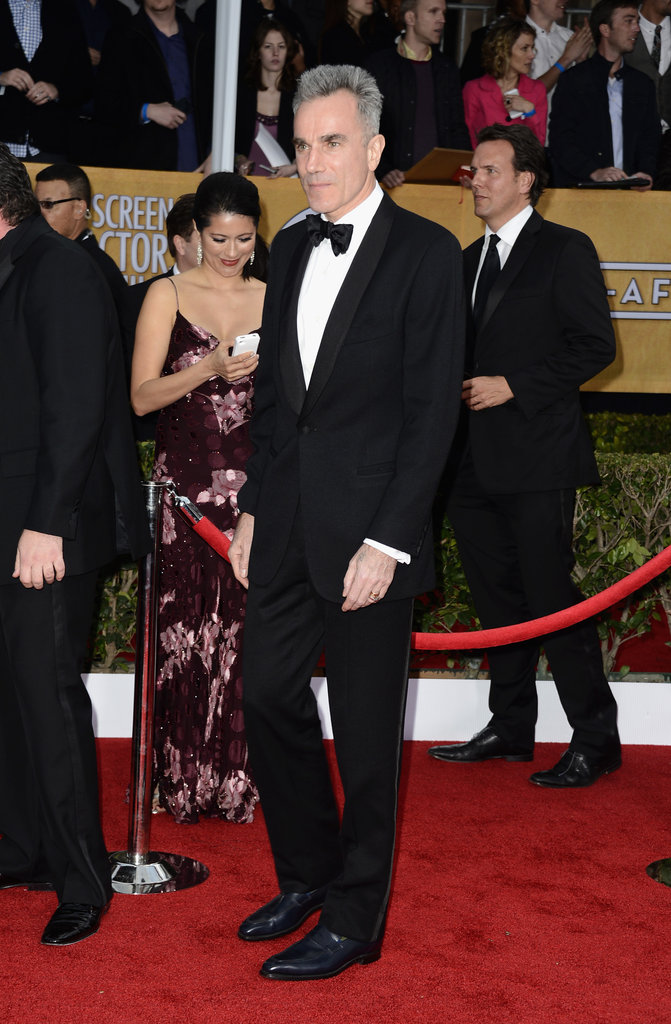 Daniel Day-Lewis donned a tux on the red carpet.