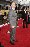 Justin Timberlake laughed while posing on the red carpet.