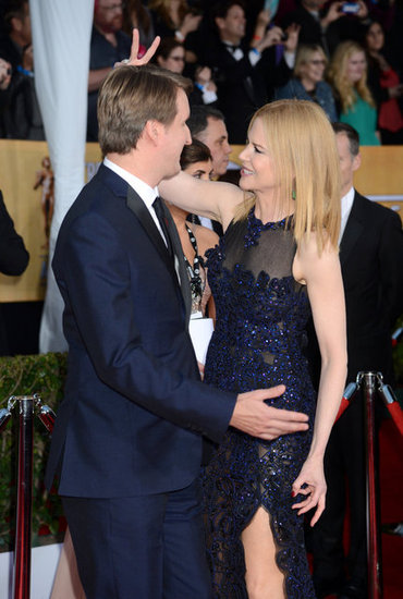 Nicole Kidman joked around with Tom Hooper at the SAG Awards Sunday.