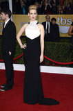 January Jones wore her hair slicked back at the SAG Awards.
