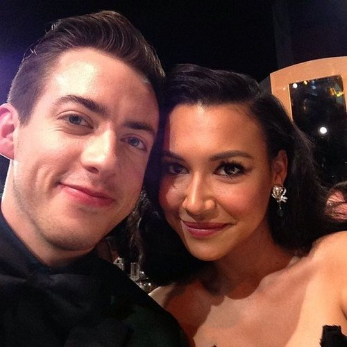 Kevin McHale shared a photo with Naya Rivera at the SAGs. Source: Instagram user KevinMcHale