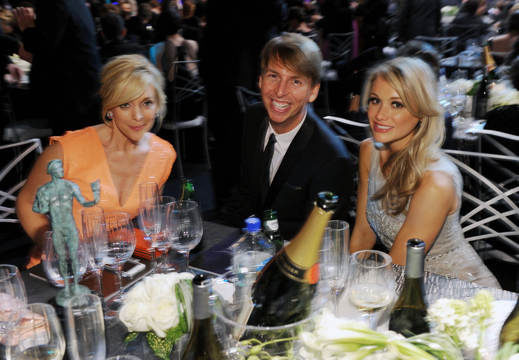 Jane Krakowski, Jack McBrayer, and Katrina Bowden shared a table.