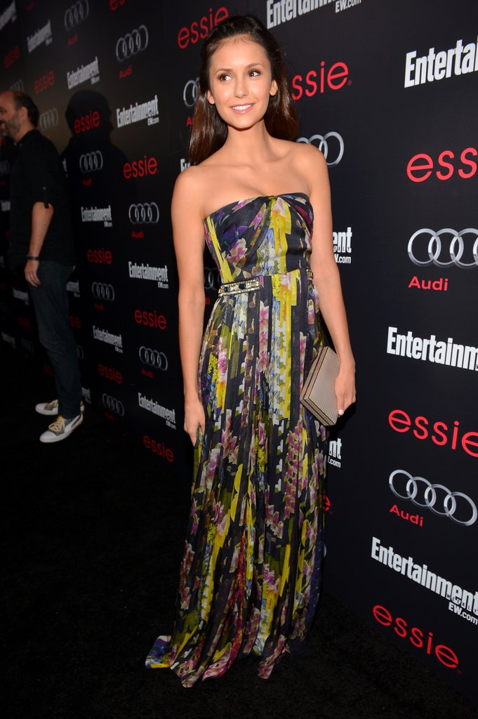 Nina Dobrev wore Matthew Williamson on the carpet to Entertainment Weekly Pre-SAG Party in LA.