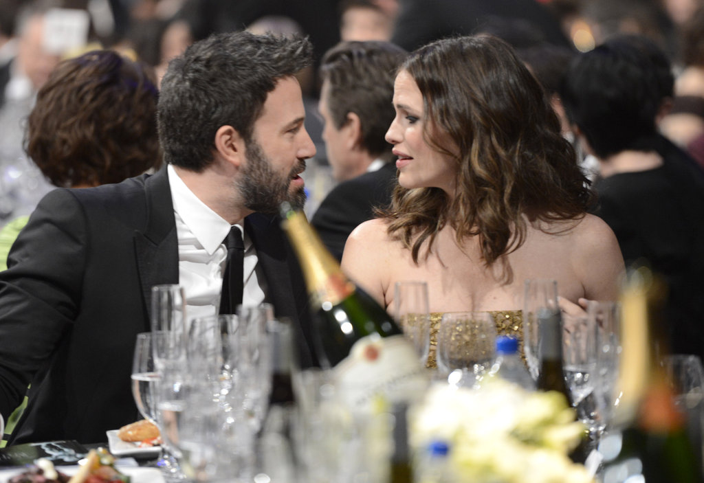 Affleck and Garner shared a moment together during the show.