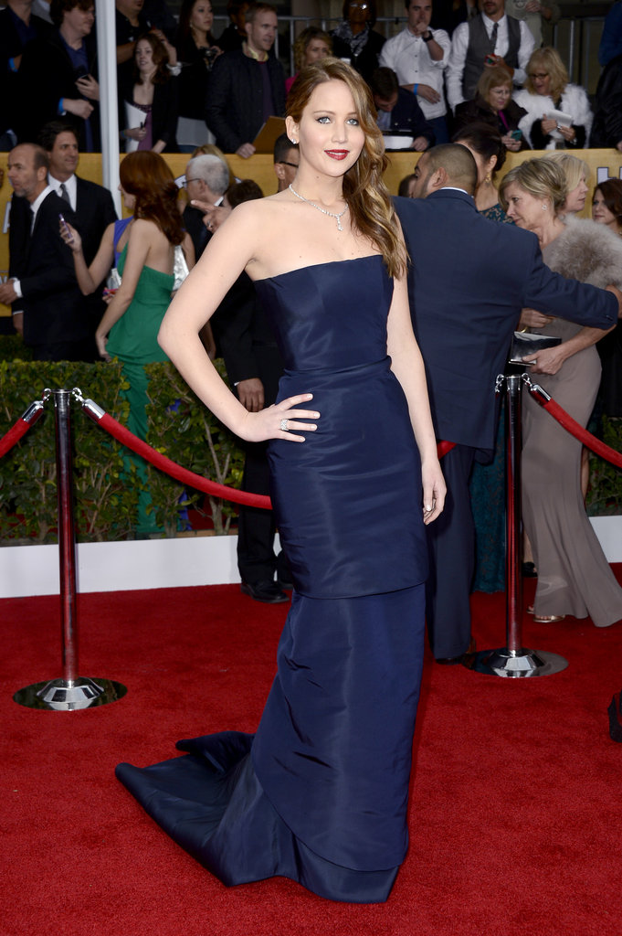 Jennifer Lawrence donned Dior Haute Couture for the SAG Awards.