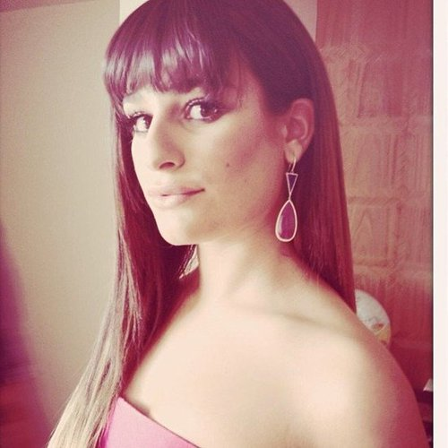 Lea Michele showed off her jewelry before the SAG awards. Source: Instagram user MsLeaMichele