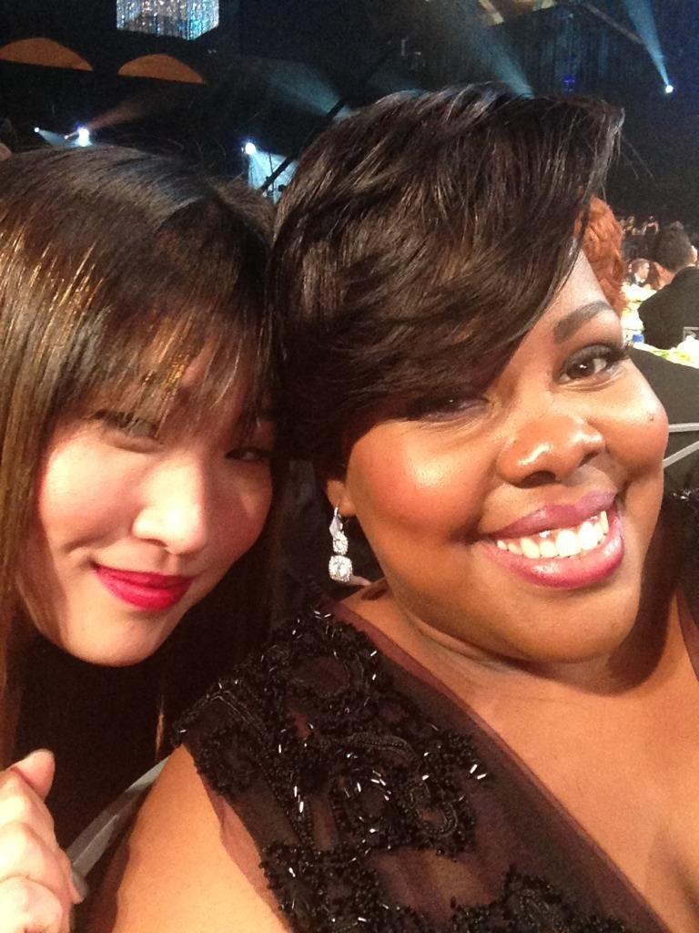 Glee-inspired sparkles and smiles. Source: Twitter user MsamberPriley