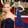 Amanda Seyfried in Navy Zac Posen at the 2013 SAG Awards
