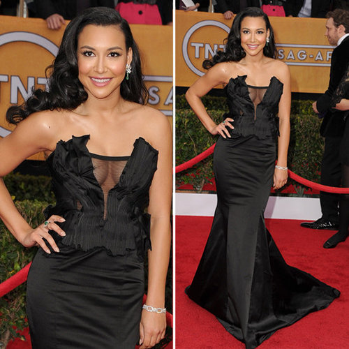 Naya Rivera: SAG Awards Red Carpet Dresses 2013