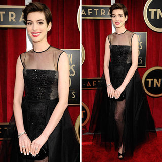 Anne Hathaway: SAG Awards Red Carpet Dresses 2013