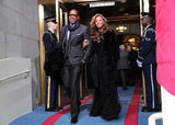 Jay-Z and Beyoncé arrived to President Obama's inauguration.