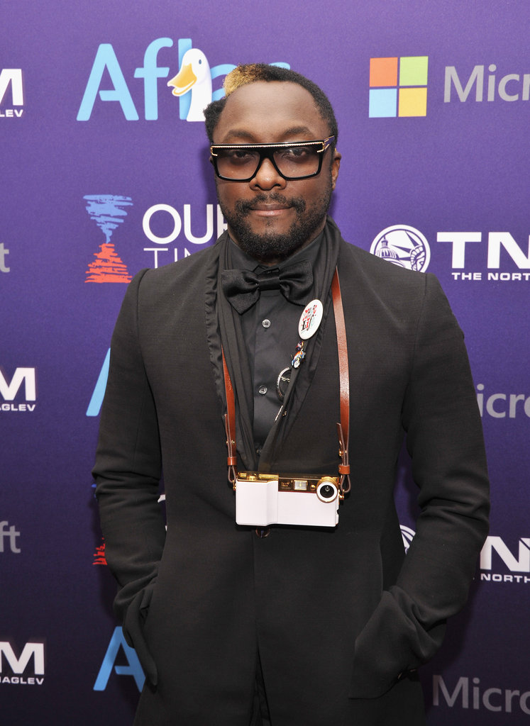 Will.I.Am posed at the Inaugural Youth Ball, which was hosted by OurTime.org.