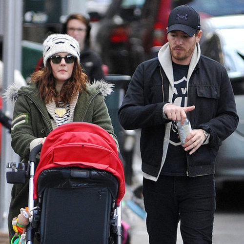 Drew Barrymore and Will Kopelman Walk With Olive | Pictures