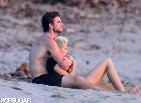 Miley Cyrus and Liam Hemsworth lounged on the beach in Costa Rica.