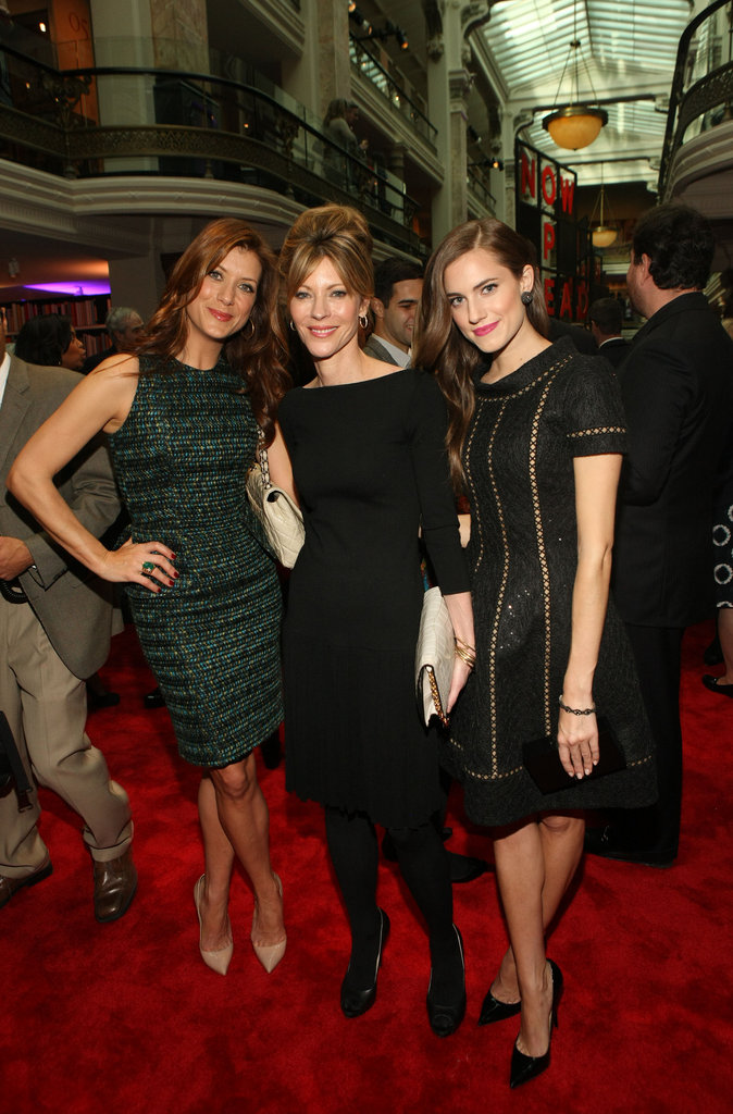 Kate Walsh, Robbie Myers, and Allison Williams posed on the red carpet before entering the GOOGLE, ELLE, And The Center For American Progress Celebrate Leading Women In Washington event.