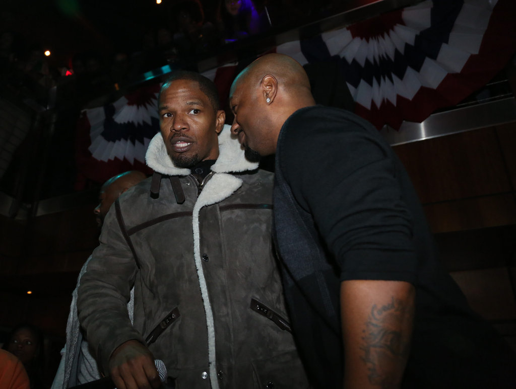 Jamie Foxx made the rounds at his inauguration party Sunday night in DC.