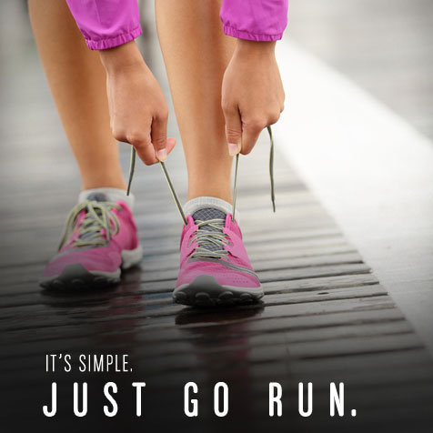 Running Motivation Poster: Just Go Run