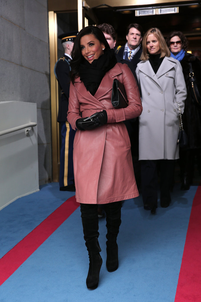 Eva Longoria attended the inaugural ceremony.